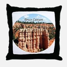 Bryce Canyon, Utah, USA (oval caption) Throw Pillo