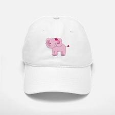 Cute Pink Baby Girl Elephant Baseball Baseball Cap