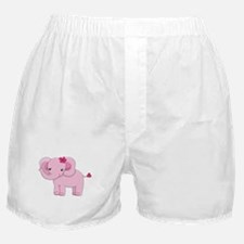 Cute Pink Baby Girl Elephant Boxer Shorts
