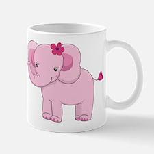 Cute Pink Baby Girl Elephant Mug