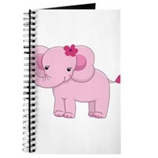 Cute Pink Baby Girl Elephant Journal