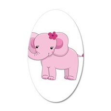 Cute Pink Baby Girl Elephant Wall Decal