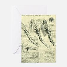Male Anatomy by Leonardo da Vinci Greeting Card
