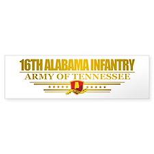 16th Alabama Infantry Bumper Bumper Sticker