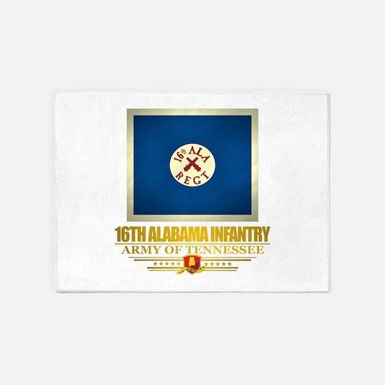 16th Alabama Infantry 5'x7'Area Rug