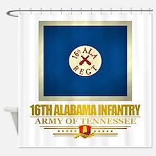16th Alabama Infantry Shower Curtain