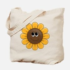 cute sunflower smiley face cartoon Tote Bag