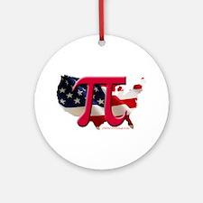 American Pi Ornament (Round)