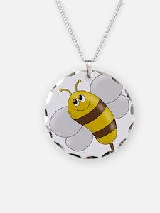 happy cute honeybee Necklace