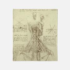 Spinal Column by Leonardo da Vinci Throw Blanket