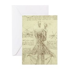 Spinal Column by Leonardo da Vinci Greeting Card