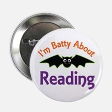 "Batty About Reading 2.25"" Button"