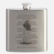 Edgar Allen Poe The Raven Poem Flask