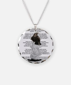 Edgar Allen Poe The Raven Poem Necklace Circle Cha