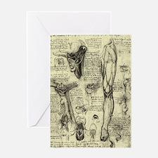 Larynx and Leg by Leonardo da Vinci Greeting Card