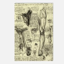 Larynx and Leg by Leonard Postcards (Package of 8)