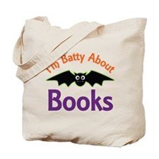 Batty About Books Tote Bag