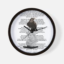 Edgar Allen Poe The Raven Poem Wall Clock
