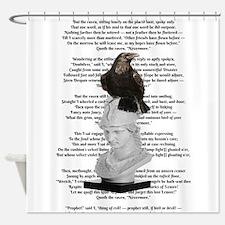 Edgar Allen Poe The Raven Poem Shower Curtain