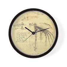 Flying Machine by Leonardo da Vinci Wall Clock