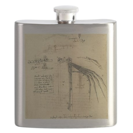 Flying Machine by Leonardo da Vinci Flask
