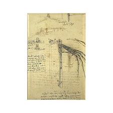Flying Machine by Leonardo da Vin Rectangle Magnet