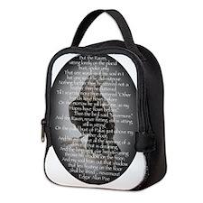 Edgar Allen Poe The Raven Poem Neoprene Lunch Bag