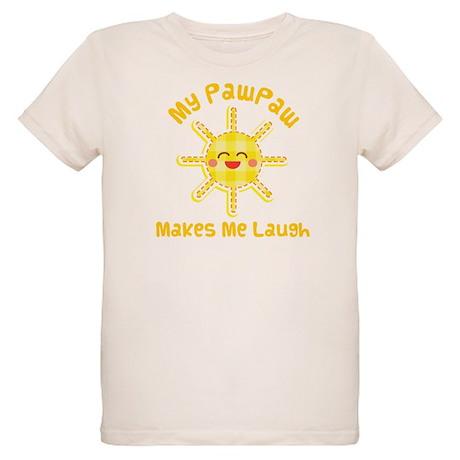 My PawPaw Makes Me Laugh Organic Kids T-Shirt