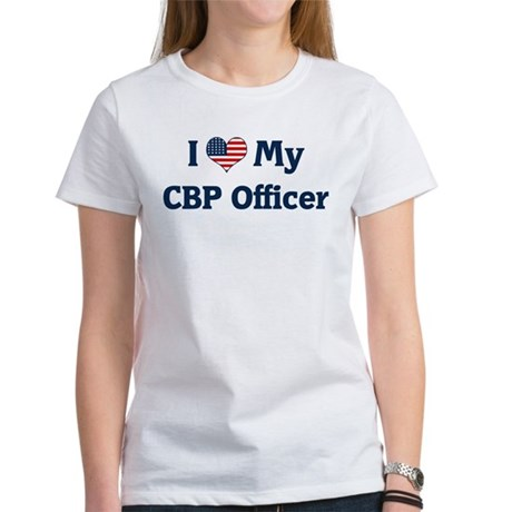 I Love My CBP Officer Women's T-Shirt