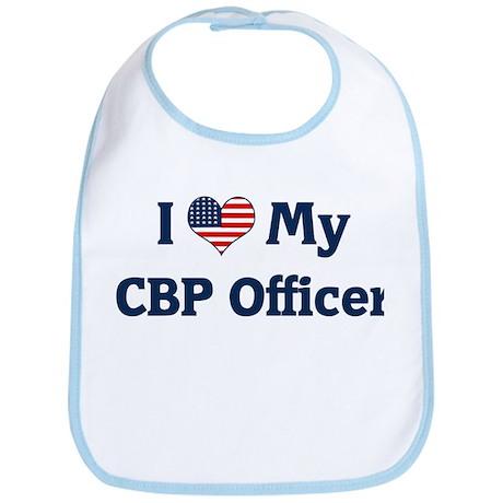 I Love My CBP Officer Bib
