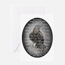 Edgar Allen Poe The Raven Poem Greeting Card