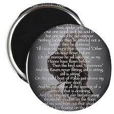 Edgar Allen Poe The Raven Poem Magnet