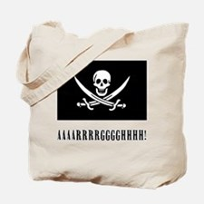 AAARRRGGGHHH! with Jolly Roger Pirate Design Tote