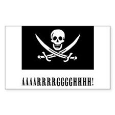 AAARRRGGGHHH! with Jolly Roger Pirate Design Stick