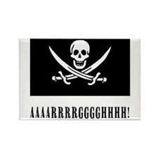 AAARRRGGGHHH! with Jolly Roger Pirate Design Recta