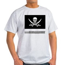 AAARRRGGGHHH! with Jolly Roger Pirate Design T-Shi