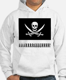 AAARRRGGGHHH! with Jolly Roger Pirate Design Hoodi