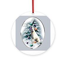 White German Shepherd Ornament (Round)