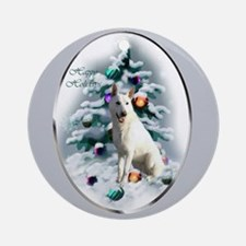 White German Shepherd Ornament (Round)