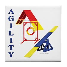 Agility Collage Tile Coaster