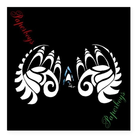 "black butterfly Square Car Magnet 3"" x 3"""