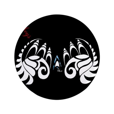 """black butterfly 3.5"""" Button"""