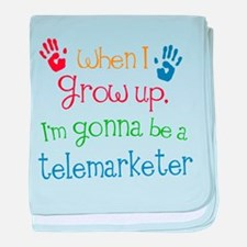 Future Telemarketer baby blanket