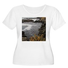 Seal Rock Coastal Scene Plus Size T-Shirt