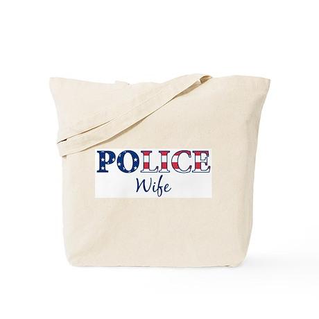 Police Wife - patriotic Tote Bag