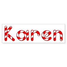 Karen - Candy Cane Bumper Bumper Sticker