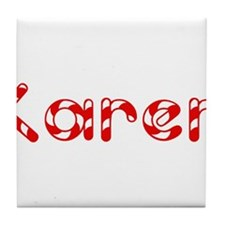 Karen - Candy Cane Tile Coaster