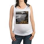 Seal Rock Coastal Scene Maternity Tank Top