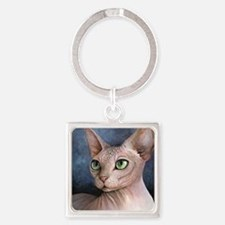 Cat 578 Square Keychain