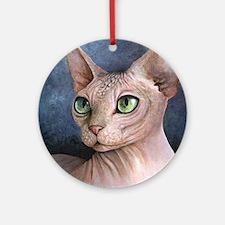 Cat 578 Round Ornament